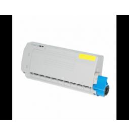 Tóner compatible para OKI C612 Amarillo