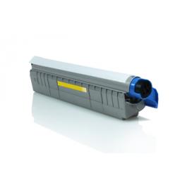 Tóner compatible para OKI C801/821 Amarillo