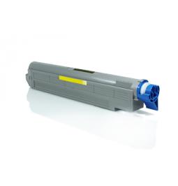 Tóner compatible para OKI ES8460 Amarillo