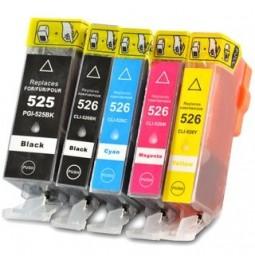 CANON PGI-525/CLI-526 Pack de 5 cartuchos compatibles
