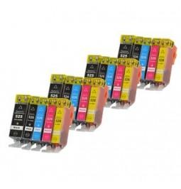 CANON PGI-525/CLI-526 Pack de 20 cartuchos compatibles