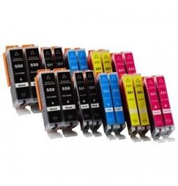 CANON PGI550XL/CLI551 Pack de 20 cartuchos compatibles