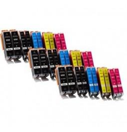 CANON PGI550XL/CLI551 Pack de 30 cartuchos compatibles