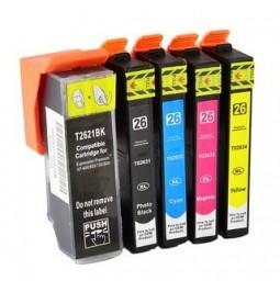 EPSON 26XL Pack de 5 cartuchos de tinta compatibles