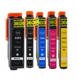 EPSON 33XL Pack de 5 cartuchos compatibles