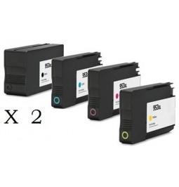HP 953XL Pack de 8 cartuchos compatibles