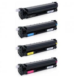 HP CF410X/CF411X/CF412X/CF413X Pack de 4 toners compatibles