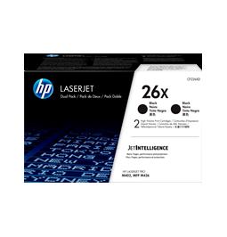 HP 26X - Pack de 2 toners original de la marca HP (CF226XD)