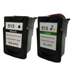 Pack de 2 cartuchos compatible para Canon PG512/CL513