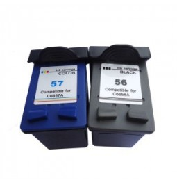 Pack de 2 cartuchos compatible para HP56/HP57
