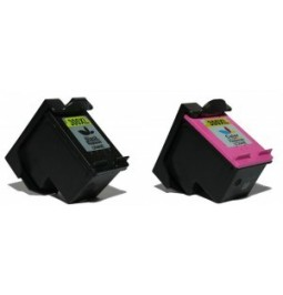 Pack de 2 cartuchos compatible para HP300XL (Negro + Color)