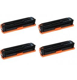 Pack de 4 tóners compatibles para HP CF210X/CF211A/CF212A/CF213A