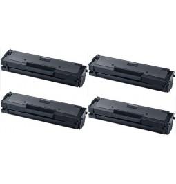 Pack de 4 toners compatibles para Samung MLT-D111S