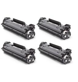Pack de 4 Tóners compatibles para HP CB435A