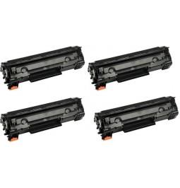 Pack de 4 toners compatibles para HP CF283A