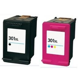 Pack de 2 Cartutxos compatibles per a HP301XL (Negre + Color)