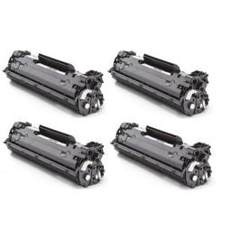 Pack de 4 Tóners compatible para HP CE278A