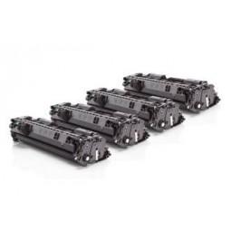 Pack de 4 Tóners compatible para HP CE505A