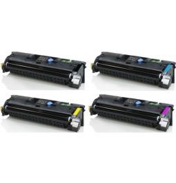 Pack de 4 tóners compatibles para HP Q3960A/Q3961A/Q3962A/Q3963A