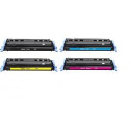 Pack de 4 tóners compatibles para HP Q6000A/Q6001A/Q6002A/Q6003A