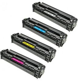 Pack de 4 tóners compatibles para HP CB540A/CB541A/CB542A/CB543A