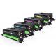 Pack de 4 tóners compatibles para HP CE400X/CE401A/CE402A/CE403A