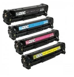 Pack de 4 tóners compatibles para HP CE410X/CE411A/CE412A/CE413A