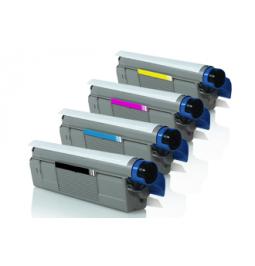 Pack de 4 tóners compatibles para OKI C5800/5900