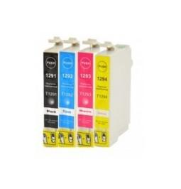 Pack de 4 cartuchos compatibles para Epson T1291/2/3/4