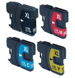 Pack de 4 cartuchos compatibles para Brother LC-980BK/C/M/Y