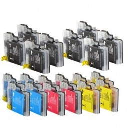 Pack de 20 Cartutxos compatibles per a Brother LC-980BK/C/M/Y