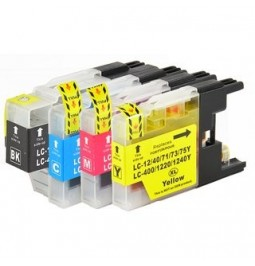 Pack de 4 Cartutxos compatibles per a Brother LC-1240BK/C/M/Y