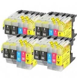 Pack de 20 Cartutxos compatibles per a Brother LC-1240BK/C/M/Y