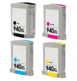 Pack de 4 cartuchos compatibles para HP 940XL