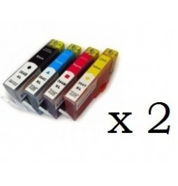 Pack de 8 cartuchos compatibles para HP 364XL