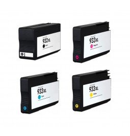Pack de 4 cartuchos compatibles para HP 932XL/933XL