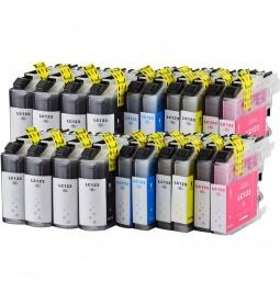 Pack de 20 cartuchos compatibles para Brother LC123BK/LC123C/LC123M/LC123Y