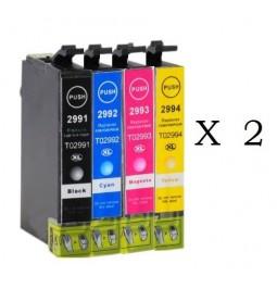 Pack de 8 cartuchos compatibles para Epson 29XL T2991/T2992/T2993/T2994