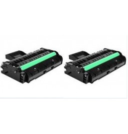 Pack de 2 toners compatibles para Ricoh SP201/211