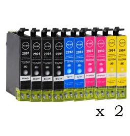 Pack de 20 Cartuchos compatibles para Epson 29XL (T2991/T2992/T2993/T2994)