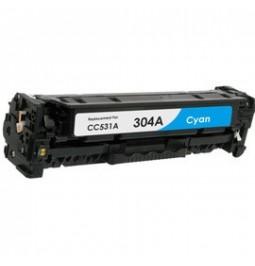 Tóner compatible para HP CC531A Cian (304A)