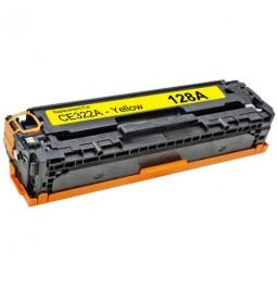 Tóner compatible para HP CE322A Amarillo (128A)