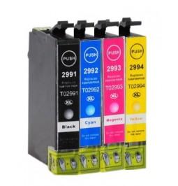 Pack de 4 Cartuchos compatibles para Epson 29XL (T2991/T2992/T2993/T2994)