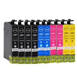 Pack de 10 Cartuchos compatibles para Epson 29XL (T2991/T2992/T2993/T2994)