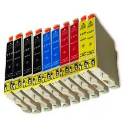 Pack de 10 cartuchos compatibles para Epson T0611/T0612/T0613/T0614